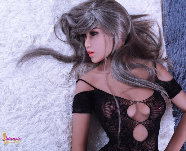 Sex doll with hair flowing in all directions.
