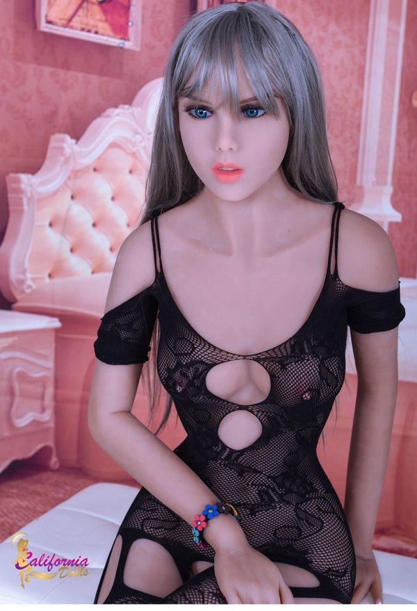 Love Doll with boobs and nipples seen through lingerie.
