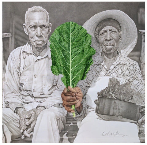Colin Quashie | Plantation Tree of Life, archival print on canvas