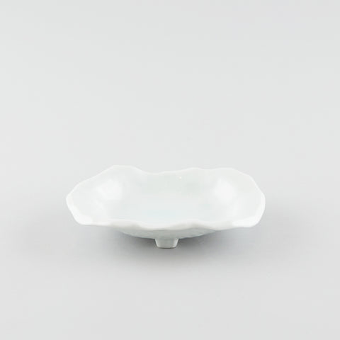 Serene White Oblong Shallow Dish
