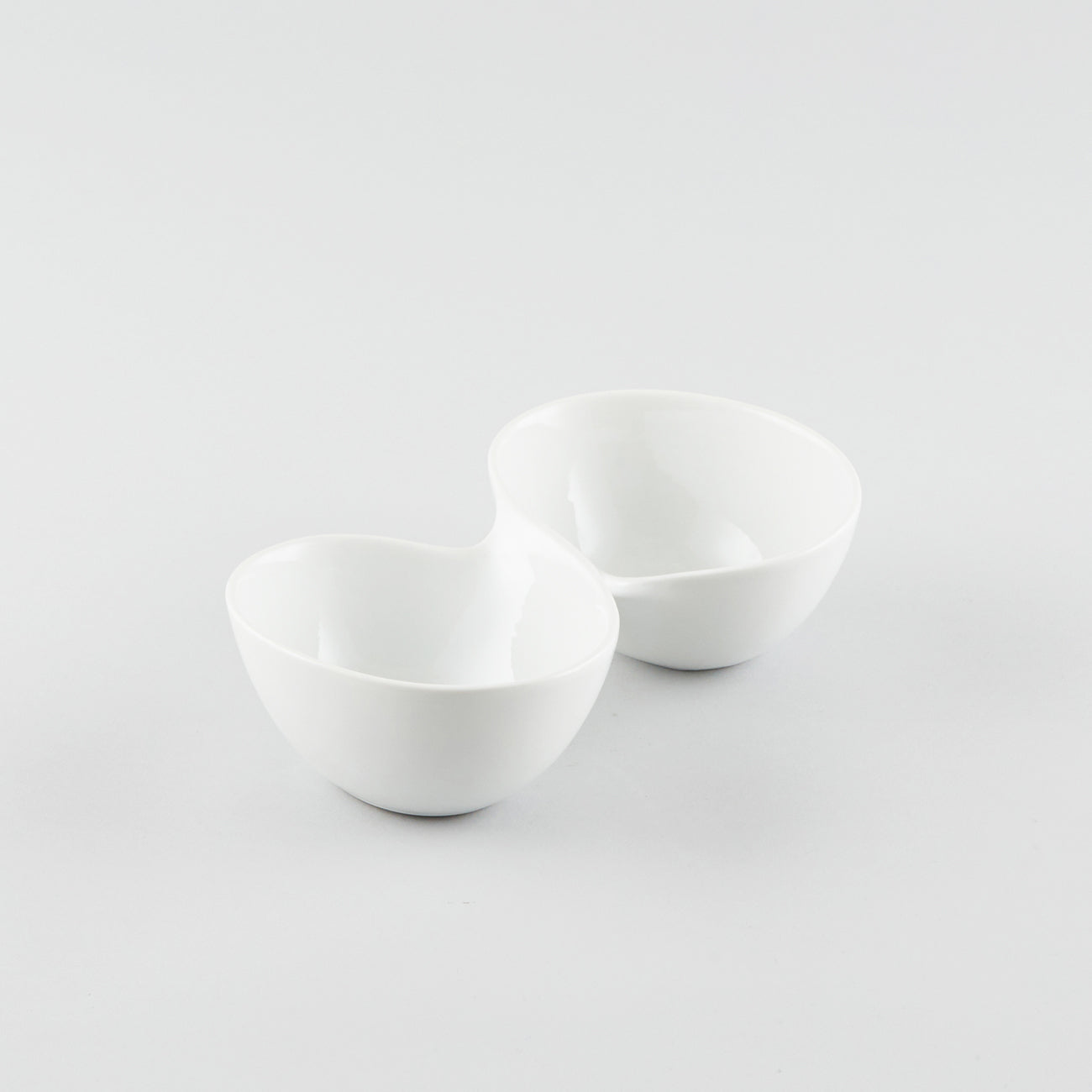 Infinity 2 Compartment Bowl - White