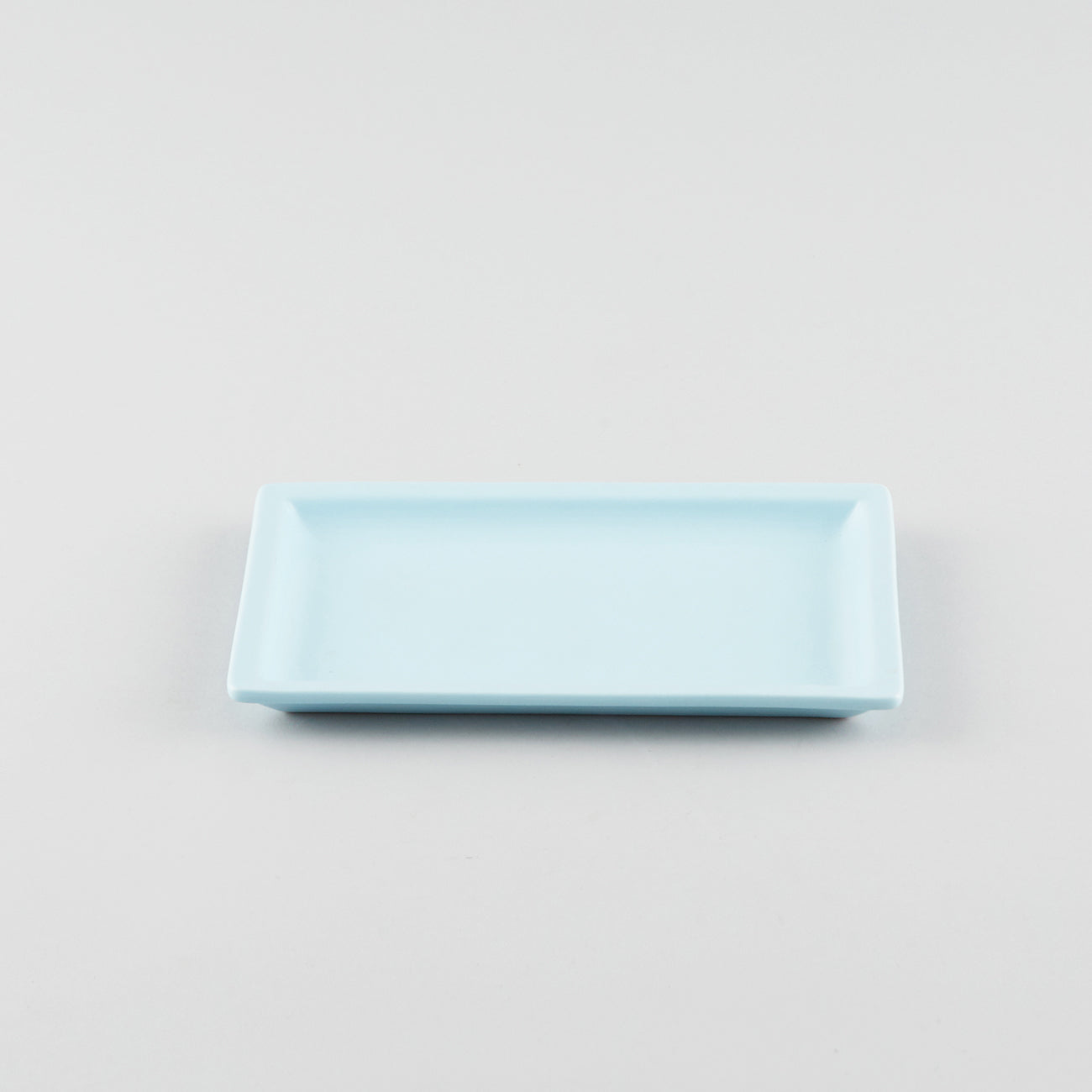 Rectangle Plate with Risen Rim - Blue (M)