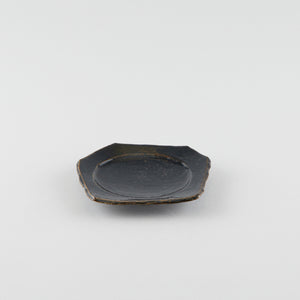 Smooth Earth Black Artisan Square Plate