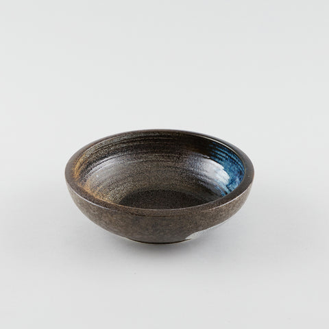 Earth Brush Browns Round Bowl