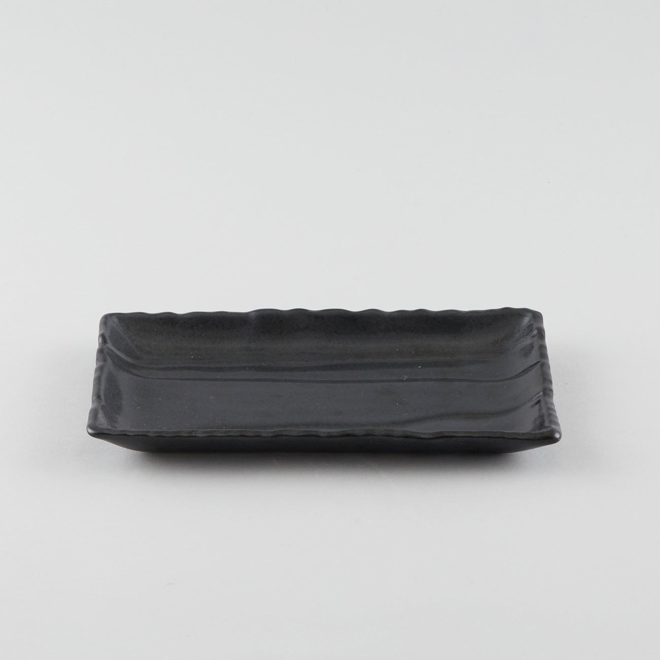 Wave Rectangle Plate - Black