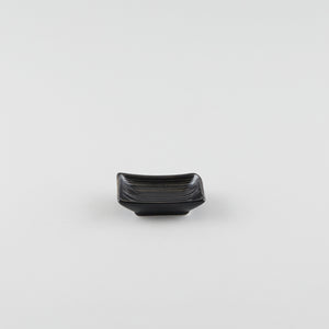 Rectangle Boat Soy Sauce Dish - Black