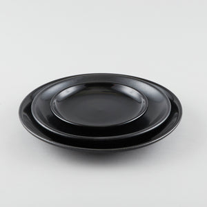 Round Coupe Plate - Black (M)