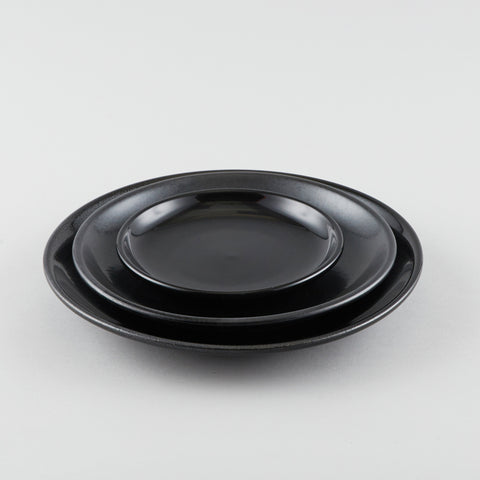 Round Coupe Side Plate - Black (S)