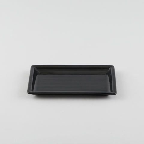 Rectangle Plate with Risen Rim - Black (M)