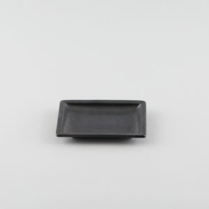 Rectangle Plate with Risen Rim - Black (S)