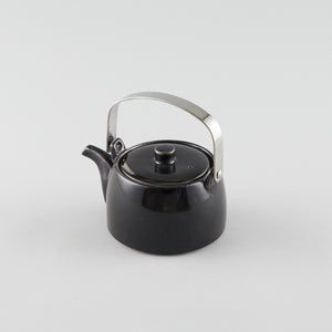 Tea Pot withMetal Handle - Black (S)