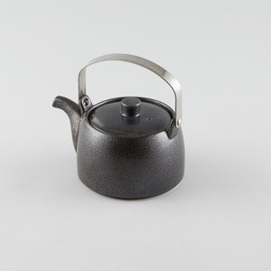 Tea Pot withMetal Handle - Black (L) 48 fl oz