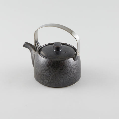 Tea Pot withMetal Handle - Black (M)