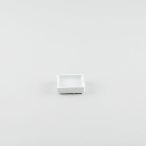Single Square Sauce Dish - White