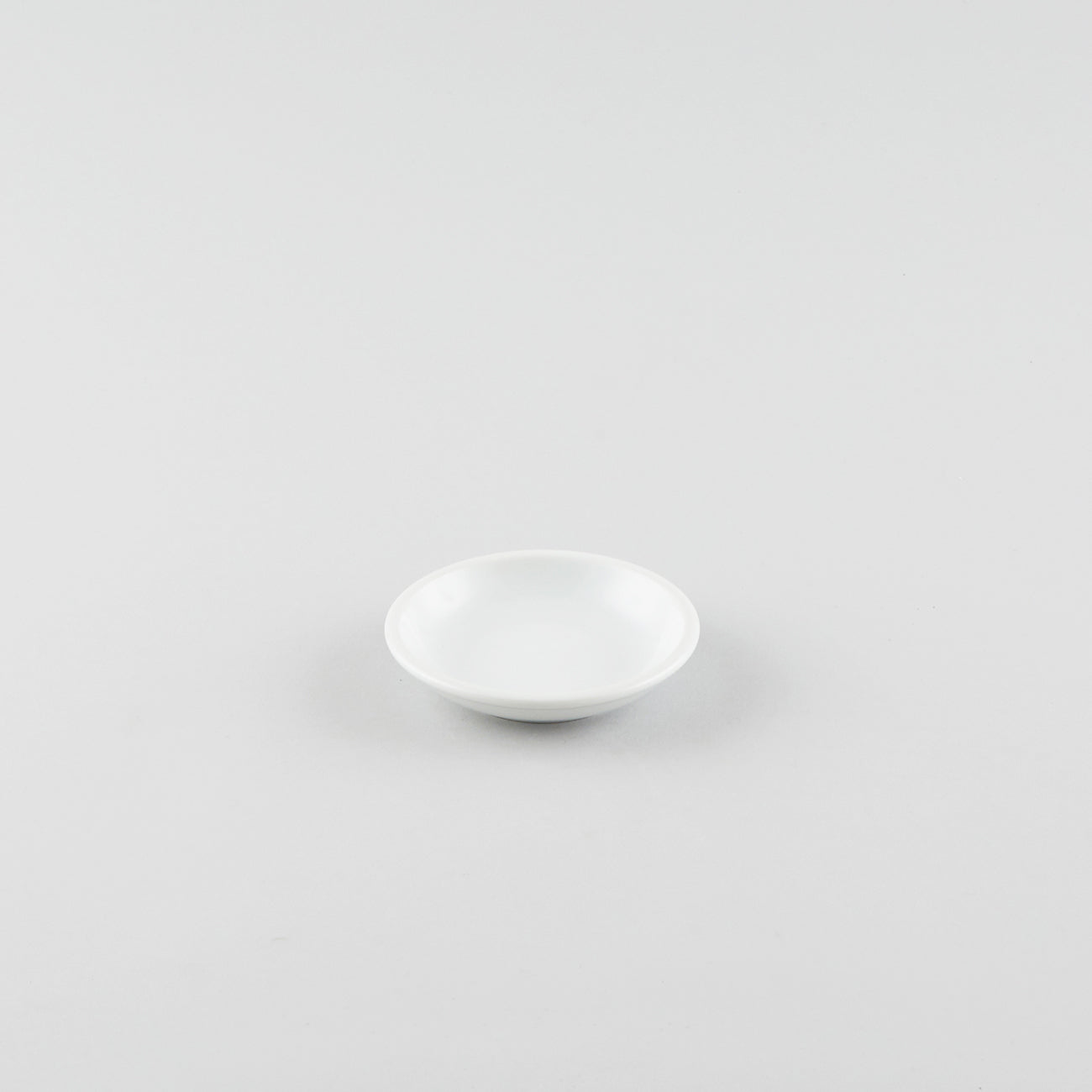 Round Soy Sauce Dish - White (L)