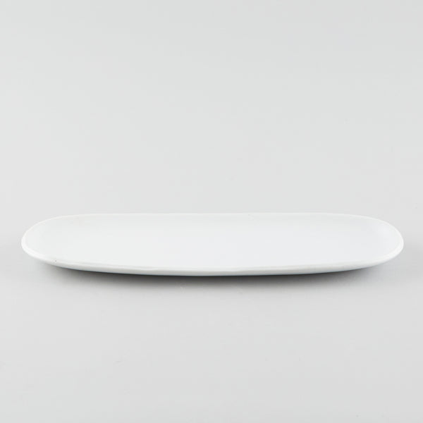 Oblong Narrow Plate - White