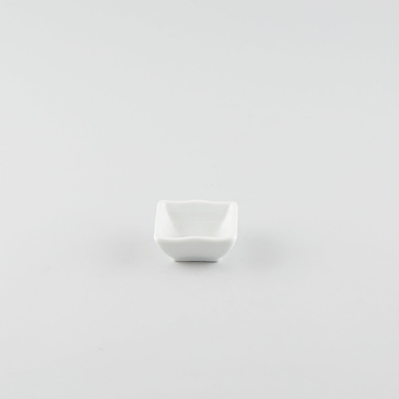 Wave Square Sauce Dish - White