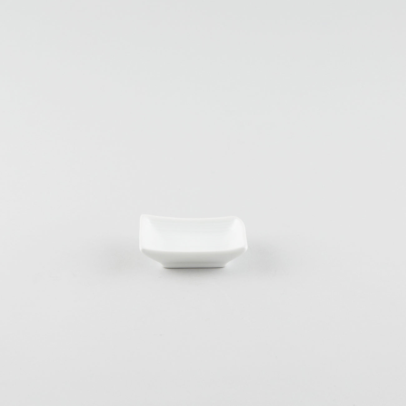 Rectangle Boat Soy Sauce Dish - White