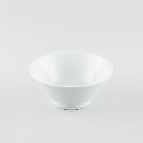 V-Shape Ramen Bowl -White - Logo
