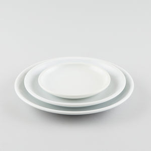 Round Coupe Plate - White (L)