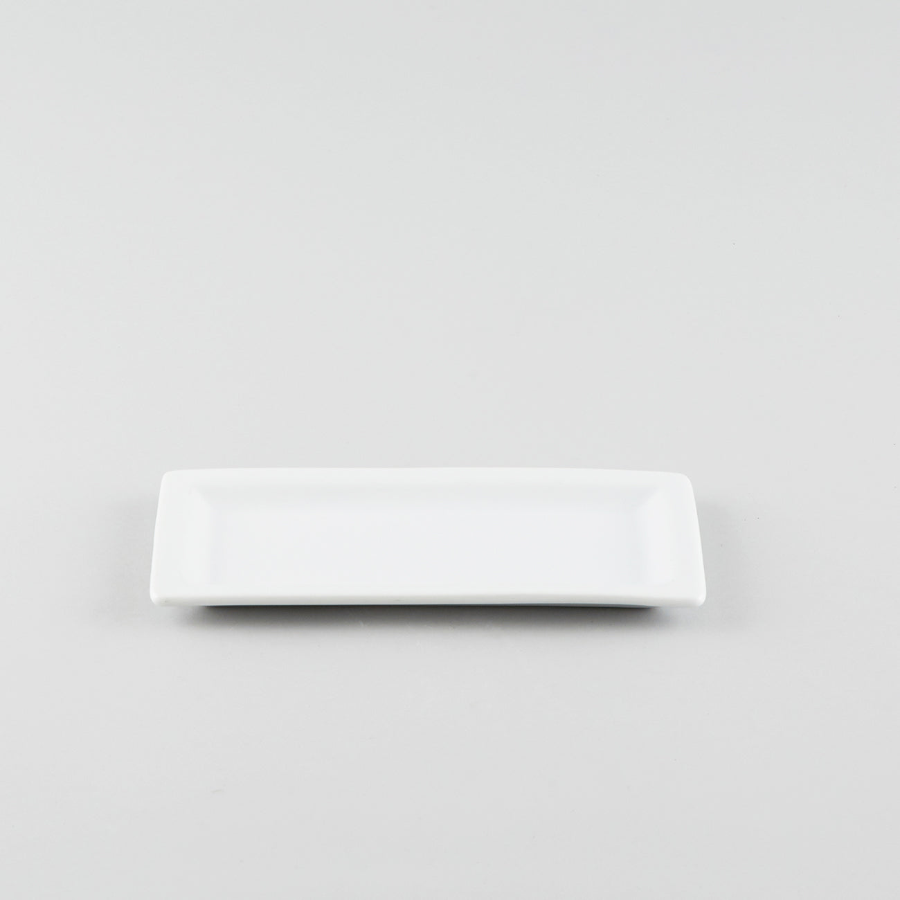 Rectangle Plate with Raised Rim - White