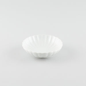 Kiku - Chrysanthemum Shallow Bowl - White