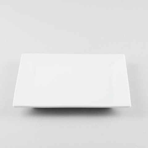 Square Plate with Standard Rim - White