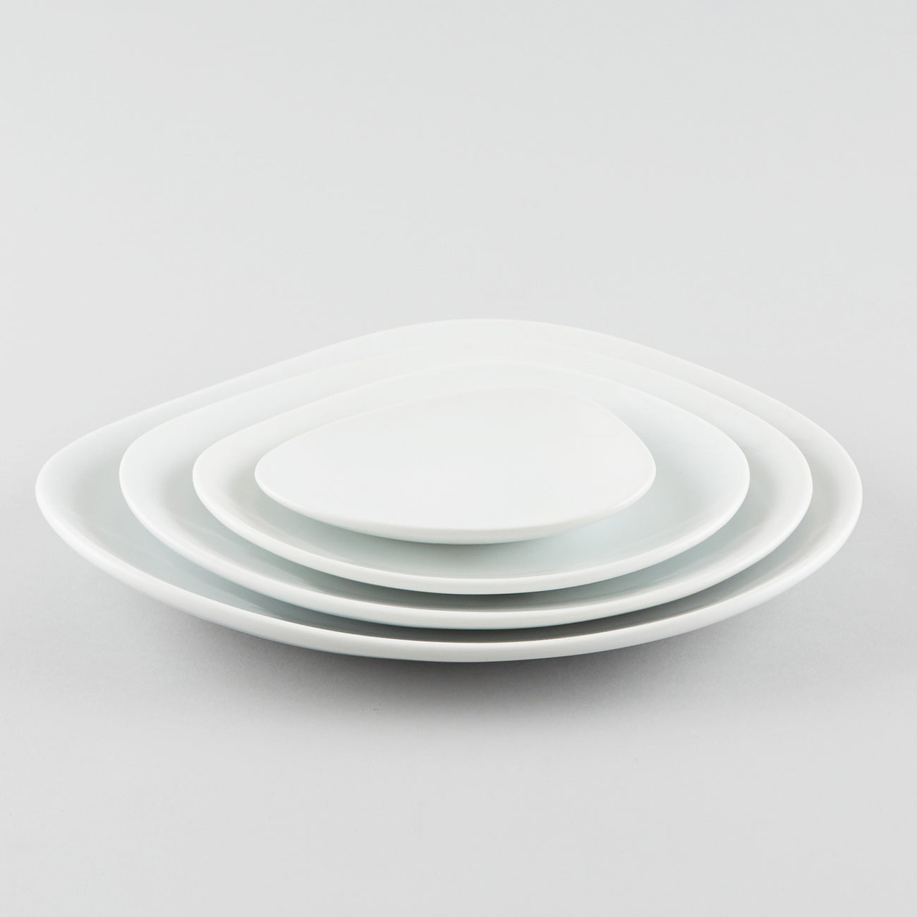 Clam Shape Plate - White (L)