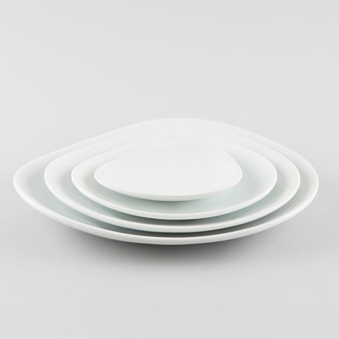 Clam Shape Plate - White (SS)