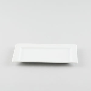 Rectangle Platter with Rim - White