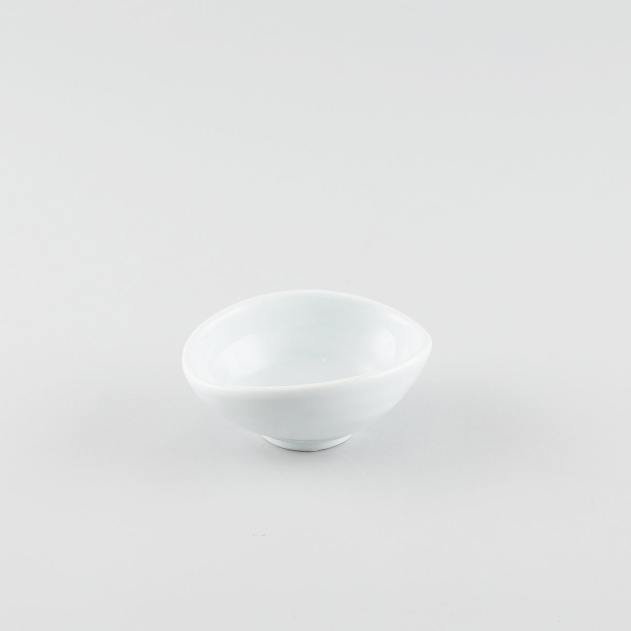 Warped Side Bowl - White