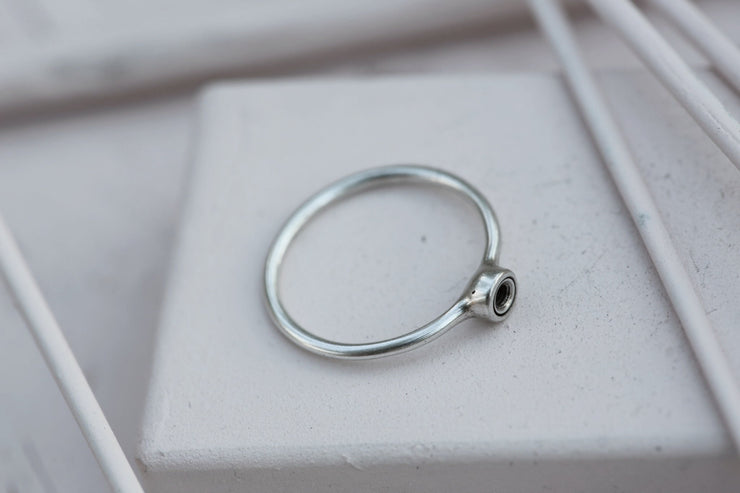 RING BASE 4MM Silverplated bronze