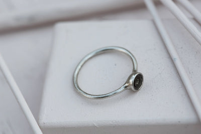RING BASE 6MM Silverplated bronze