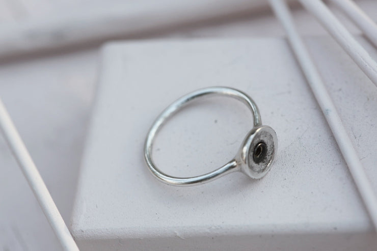 RING BASE 9MM Silverplated bronze