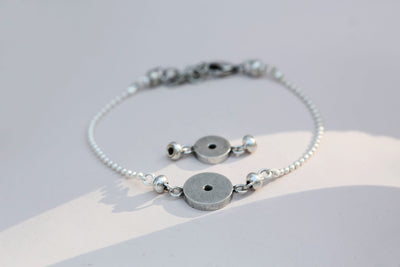 Bracelet set silverplated