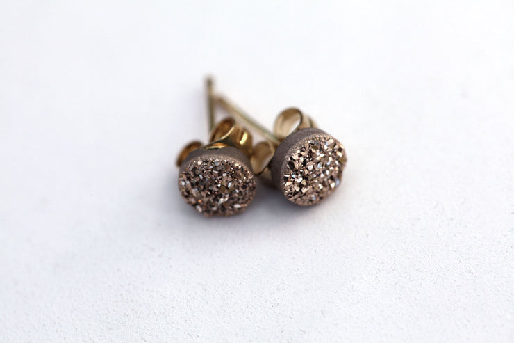 Nova druzy stud rose gold