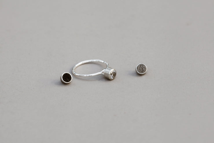 Ring set silver 4 mm