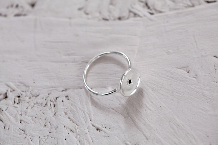 Ring base 12 mm sterling silver