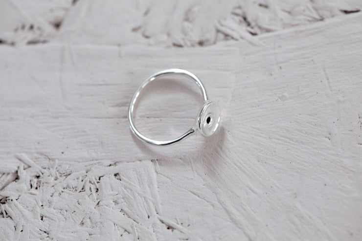 Ring base 9 mm sterling silver