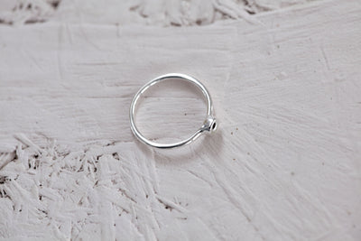 Ring base 4 mm sterling silver