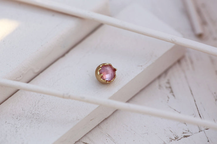 BLUSH BEZEL PRONG STONE 6MM BRONZE