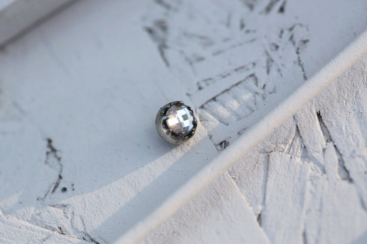 POWDER BEZEL PRONG STONE 6MM SILVER