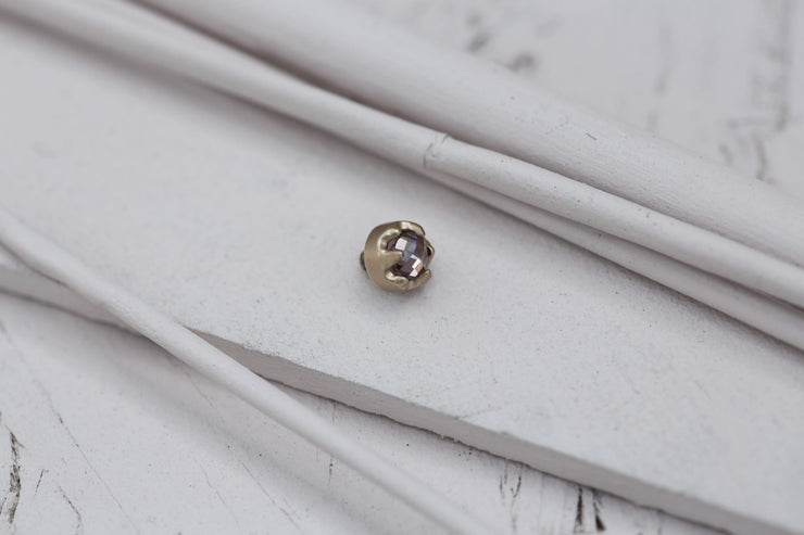 ROSE BEZEL PRONG STONE 4MM BRONZE