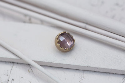 ROSE BEZEL PRONG STONE 9MM BRONZE