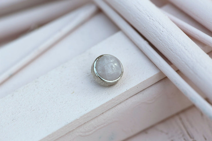 ROSE QUARTZ CABOCHON STONE 9MM SILVER