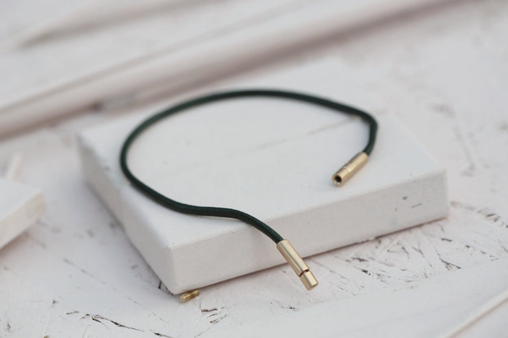 LEATHER CORD GREEN