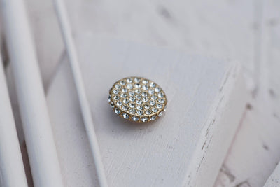 SWAROVSKI MICRO PAVE DISC 12MM BRONZE
