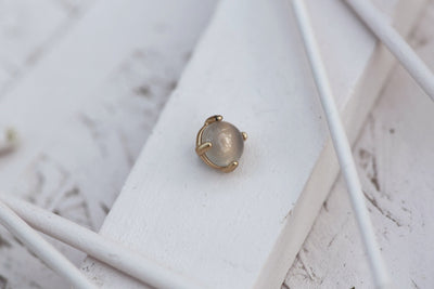 GREY MOONSTONE PRONG STONE 8MM BRONZE