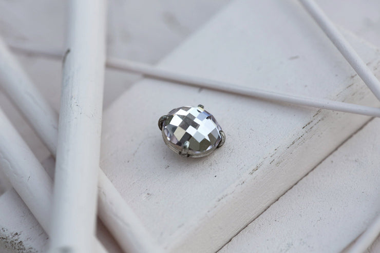 POWDER PRONG STONE 14MM SILVER