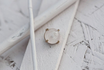 ROSE QUARTZ PRONG STONE 10MM BRONZE
